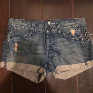 7 for mankind shorts